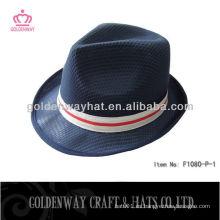 Promocional de poliéster Negro sombrero Fedora al por mayor barato PP sombreros