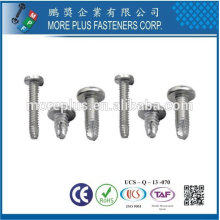 Taiwan Stainless steel 18-8 Chrome plated steel Nickel plated steel Copper Brass Thread Cutting Screws