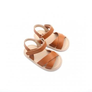 Recién nacido al por mayor Brown Girls Fancy Sandals