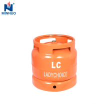 6kg lpg gas cylinder for Africa,portable orange gas bottle,butane