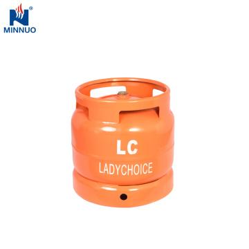 Cilindro do aço de gás de 6KG LPG, garrafa de gás