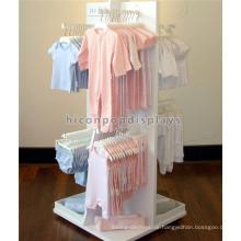 Kinder Kleider Shop Dekoration Befestigung Freistehende Baby Kleidung Store Holz Kleider Display Stand