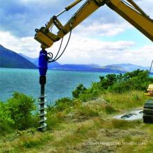 Spiral drilling excavator attachment hydraulic machine
