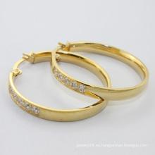 Alibaba sitio web, 2014 nuevo producto al por mayor joyería de moda, chapado en oro aro de acero inoxidable pendiente para las mujeres