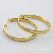 alibaba website, 2014 new product wholesale fashion jewelry, gold plated stainless steel hoop earring for women