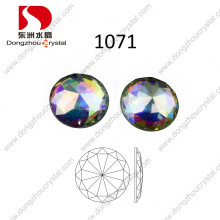 30mm Round Ab Crystal Stone Flat Back Glass Stone for Wholesale