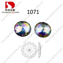 Pedra redonda do vidro da parte traseira lisa da pedra de cristal de Ab de 30mm para a venda por atacado