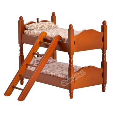 New Product for Wooden Vintage Dollhouse Furniture Vintage dollhouse furniture bed in wooden supply to Italy Factories