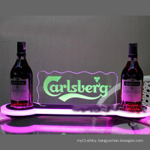 Hot Sell Acrylic LED Wine Bottle Display with Customized Service