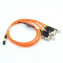 MPO-FC Fanout 12core Mini Round 3.0mm Fiber Optical Patchcord