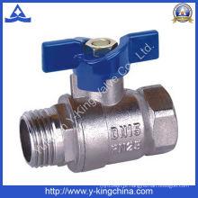 Válvula de água de esfera de bronze de fábrica (YD-1011)