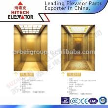 Cabine en acier inoxydable à cheveux pour ascenseur / HL-12-56