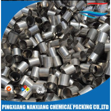 Acid resistant stainless steel 304L metallic raschig ring use for scrubbing tower