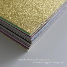 2016 moda alibaba china proveedor textura gruesa holográfica tarjeta de Navidad con todo el color de las clases