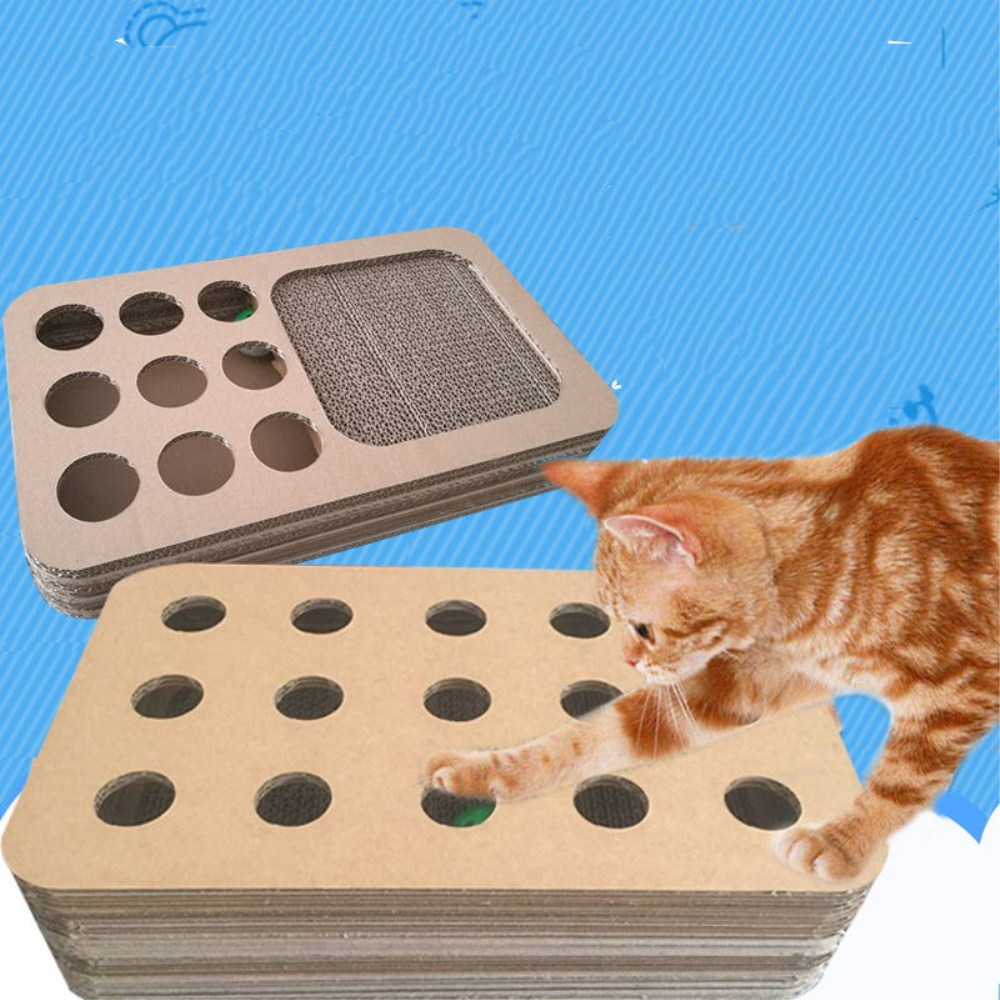 Cat Toy Puzzle Box with ball