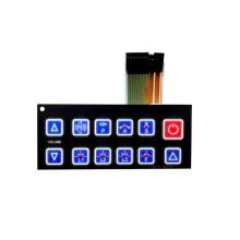 EL-Hintergrundbeleuchtung 3-Kabel-Membranschalter mit Treiber