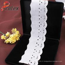 4cm 100% Blanc Dentelle Polyester Fine