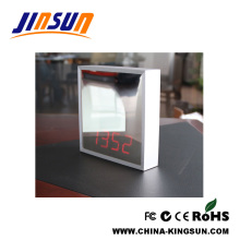 Special Desktop Makeup Mirror With Led Alarm Clock