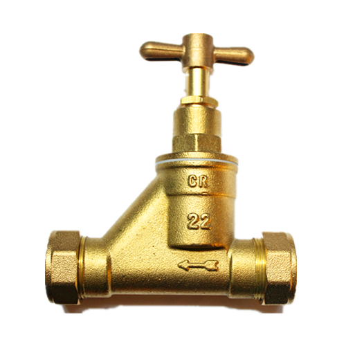 Screw Angle Brass Stop Valve With Connector