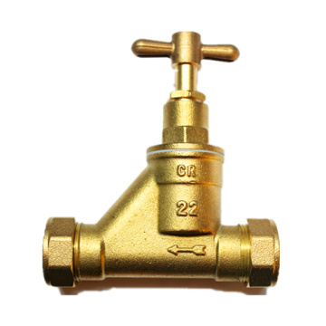 Screw Angle Brass Stop Valve Dengan Connector