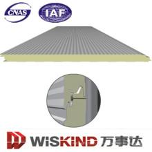 Panel sandwich PU / poliuretano para materiales de pared y tejado