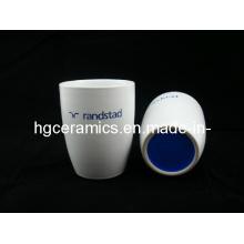 Laser-gravierter keramischer Becher, kein Handgriff, Kaffeetasse