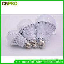 Широкий диапазон напряжения Лампа E27 5Вт 7ВТ 9ВТ 12ВТ светодиодные Смарт чрезвычайных лампы освещения