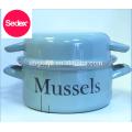 Final Touch MP201 Enamel Mussel Pot & enamel olla pot