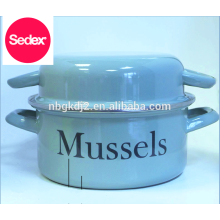 Final Touch MP201 Enamel Mussel Pot & enamel olla pot