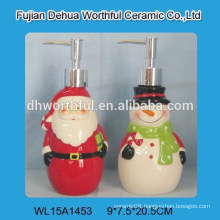 Christmas design ceramic hand soap and lotion bottle