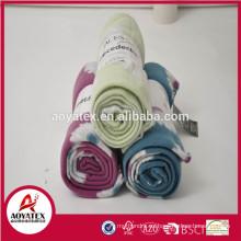 2018 promoción de venta caliente polarfleece manta, stock polarfleece manta, super suave manta polarfleece impreso