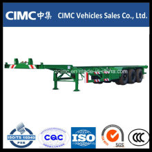 Cimc 40FT Container Schwanenhals Skelett Chassis Anhänger