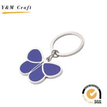 Chaveiro de Metal linda forma de borboleta com cor amarela (Y02630)