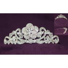 Nueva corona nupcial cristalina de la tiara de la boda del Rhinestone del diseño de la venta caliente