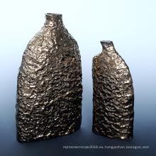 Vaso de flor de cerámica moderna del jardín de electrochapado para las piezas de centro (A1161)