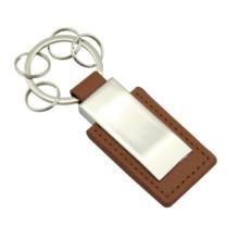 Chaîne porte-clés en cuir PU personnalisée avec petite anneau (F3031)