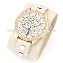2014 reloj de moda de venta caliente relojes de cuero baratos