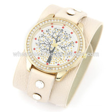 2014 relógio de venda quente vogue relógios de couro baratos