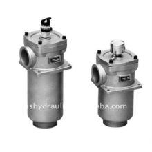 RF hydraulic return line filter