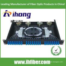 Panel de conexión de fibra óptica de puerto SC24 montado en bastidor de 19 pulgadas