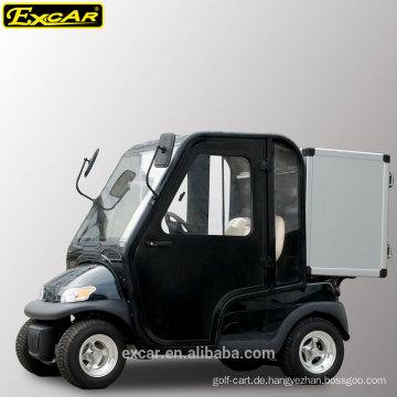 2-Sitzer Elektrischer Golfwagen mit Kabinentüren und Aufbewahrungsbox aus Aluminium