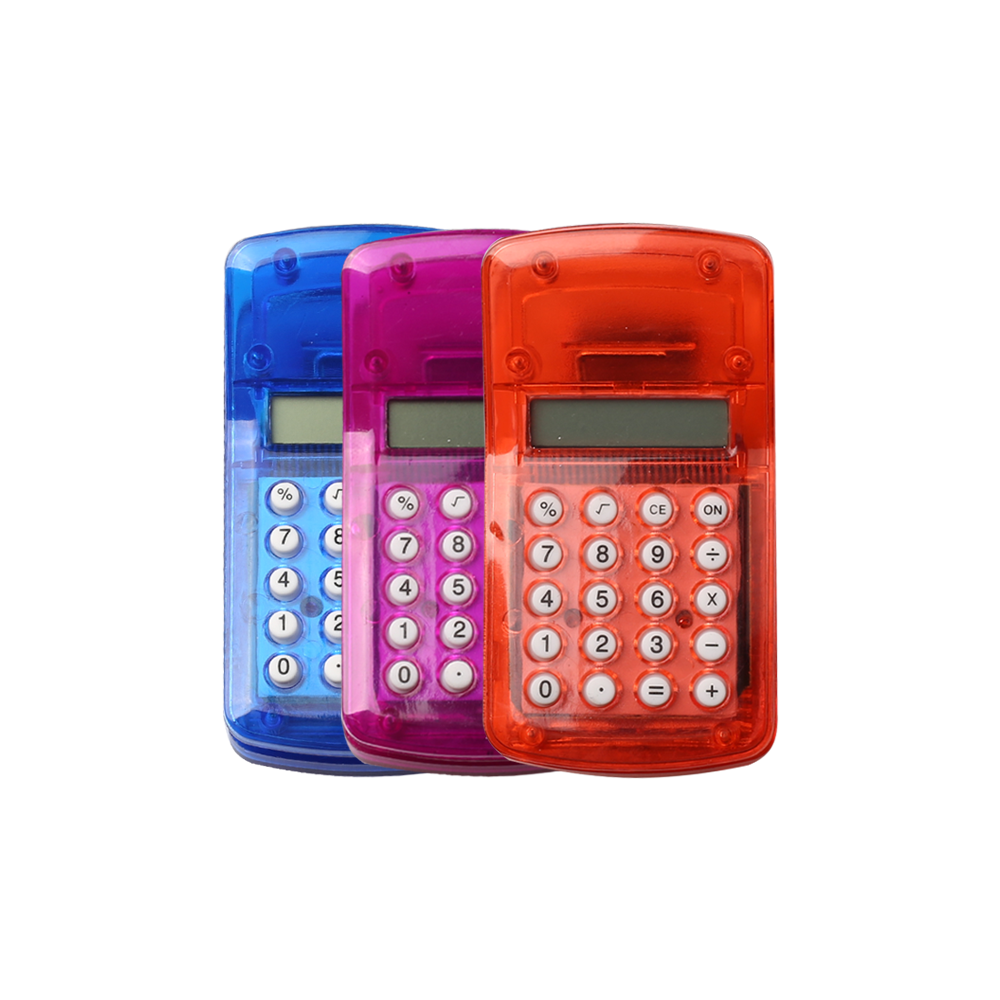 8 Digits Colorful Mini Clamp Calculator for Children