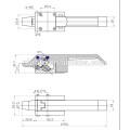 Stainless Steel Oven Door Handle Lock