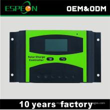 Fora da grade 12 V 24 v 10A 20A 30A 40A 50A 60A com display LCD controlador de carga solar controlador solar