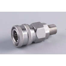Stainless Automatic quick coupler socket 1/4 male thread