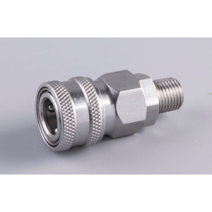Stainless Automatic quick coupler socket 3/8 male thread