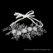 Elegant handmade crystal rhinestone wedding bridal hair accessories OEM design hair bands