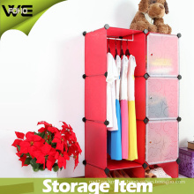 Cheap Foldable Plastic Wardrobe Closet Bedroom Furniture for Children