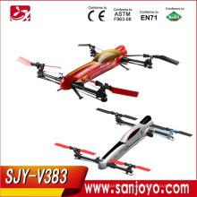 WL toys V383 500 Eléctrico 3D 2.4G 6CH 3D RC helicóptero Quad helicóptero
