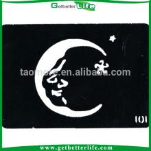 Pochoirs de tatouage de corps Santa Claus lune (11 * 8cm)